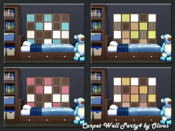 The Sims Resource: Set Carpet Wall Party 1 by olivas