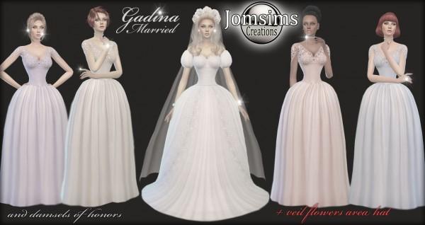 Sims 4 Wedding Veil.Jom Sims Creations Gadinba Wedding Dress Sims 4 Downloads