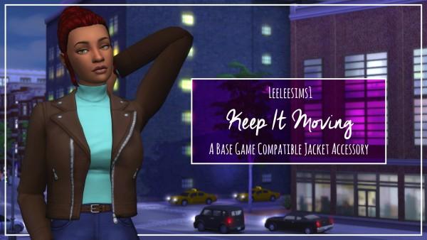 Simsworkshop: Keep It Moving jacket by leeleesims1