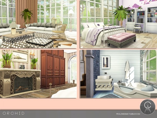The Sims Resource: Orchid house by Pralinesims
