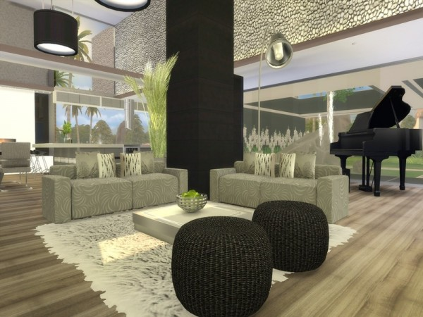 The Sims Resource: Black Sapphire house by Suzz86