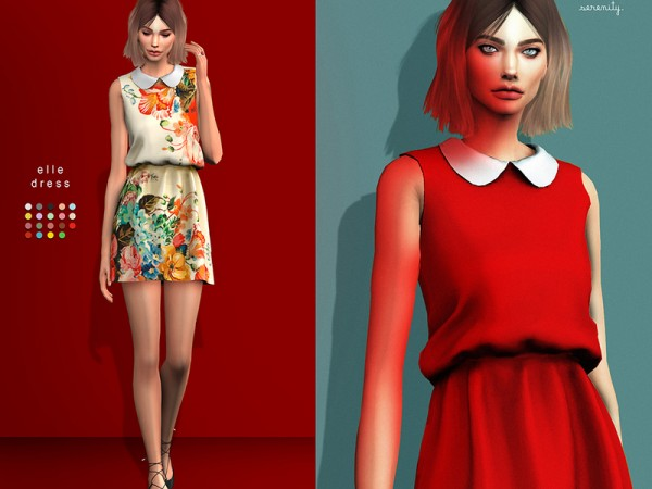 The Sims Resource: Elle dress by serenity cc