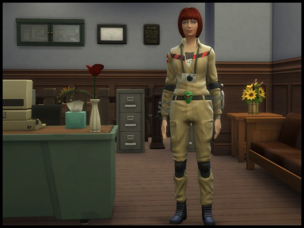 Mod The Sims Ghostbuster Outfit Female Version By
