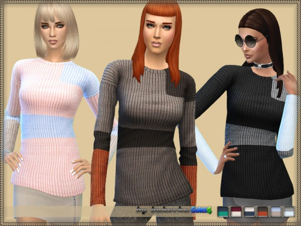 The Sims Resource: Sweater Three Colors by bukovka
