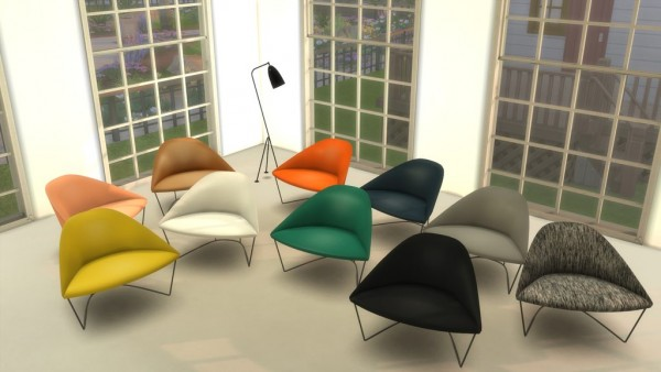 Mod The Sims: Arper Colina Armchair by LOolyharb1