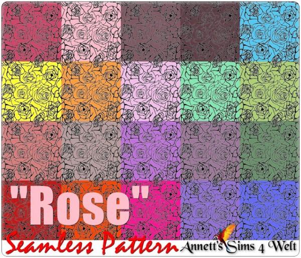 Annett`s Sims 4 Welt: Seamless Pattern Rose