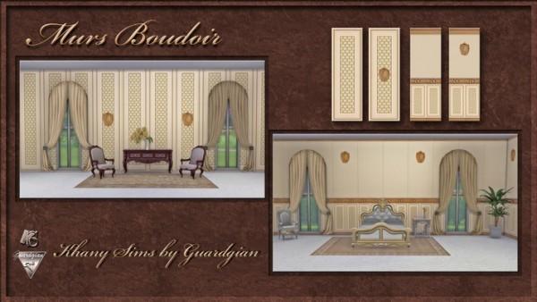 Khany Sims: Boudoir walls • Sims 4 Downloads