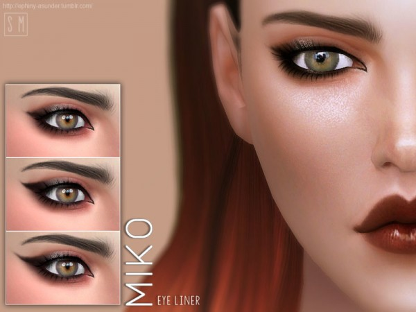 The Sims Resource: Miko   Eyeliner by Screaming Mustard