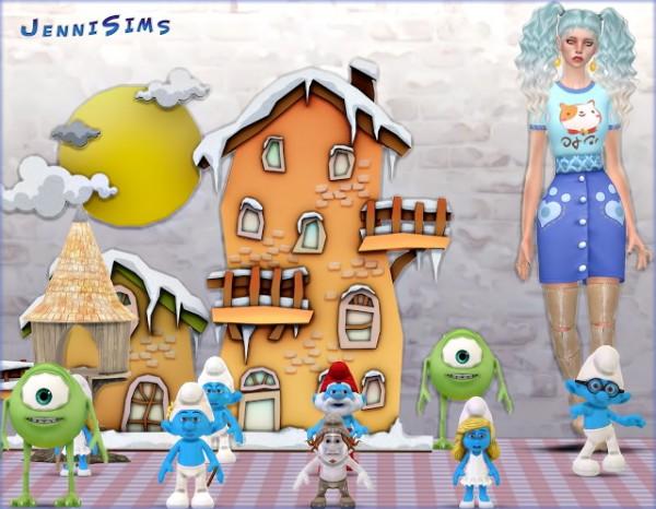 Jenni Sims: Set Vol 52 Decoratives Smurfs World, Monsters