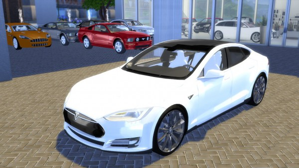 Oceanrazr Tesla Model S P90d 2015 Sims 4 Downloads