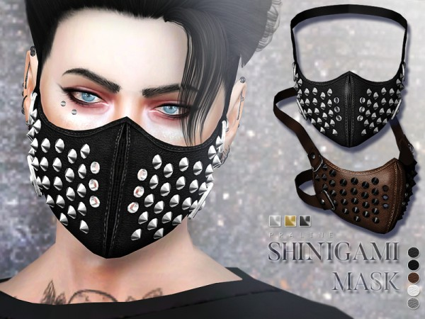 The Sims Resource Shinigami Mask By Pralinesims Sims 4