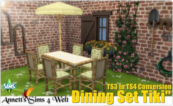 Annett`s Sims 4 Welt: Dining Set Tiki
