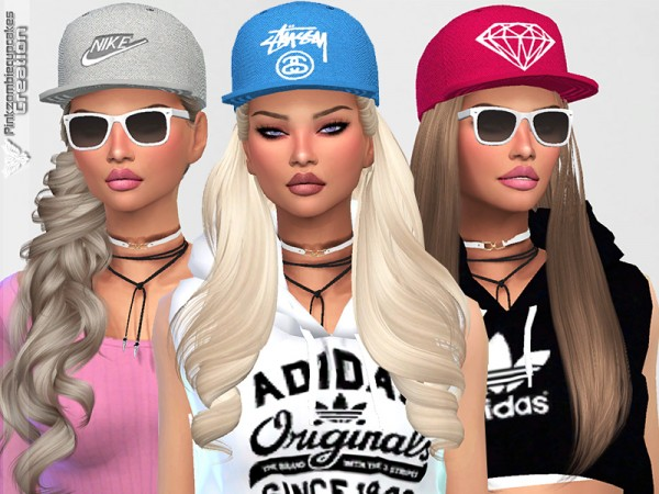 The Sims Resource: Diamond Urban Cap Collection by Pinkzombiecupcakes