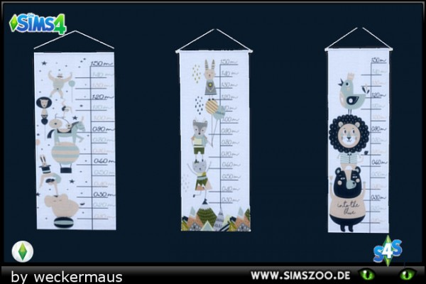 Blackys Sims 4 Zoo: Kidsroom News Walltattoos 01 by weckermaus