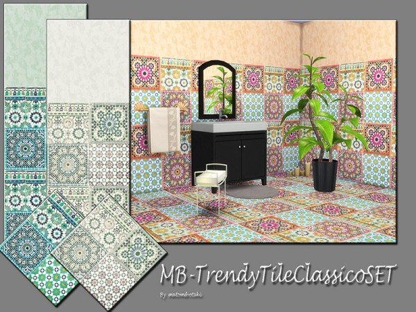 The Sims Resource: Trendy Tile Classico set by matomibotaki