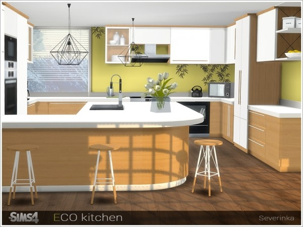 The Sims Resource: ECO kitchen by Severinka • Sims 4 Downloads
