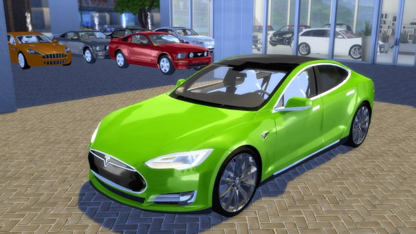 Oceanrazr Tesla Model S P90d 2015 Sims 4 Downloads