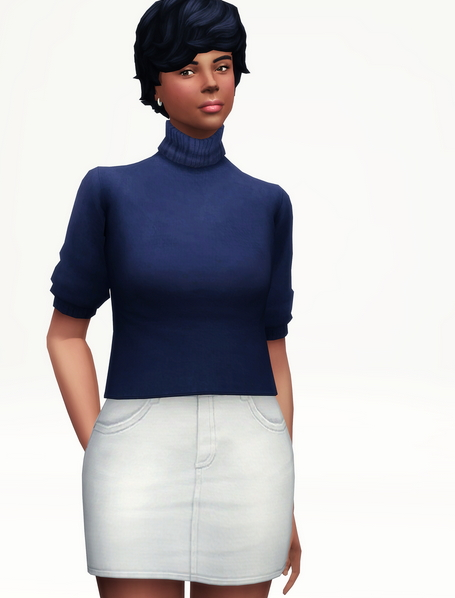 Rusty Nail: Half sleeves turtle neck sweater