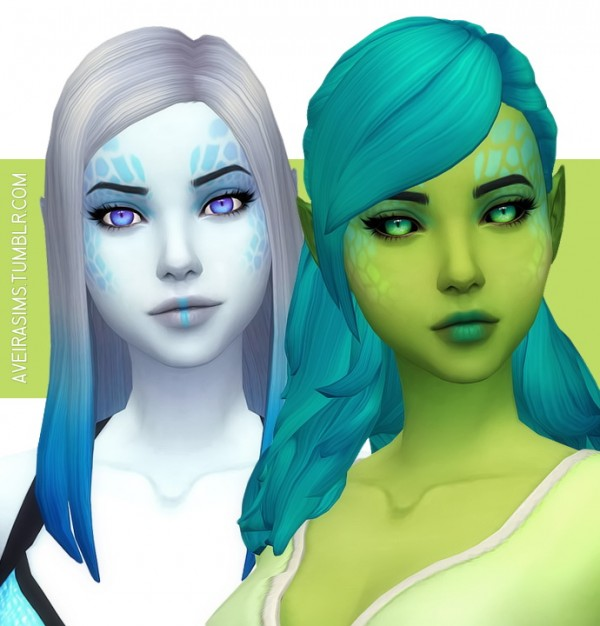 Aveira Sims 4: Alien Eyes 1