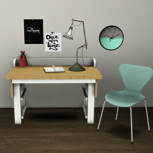 Leo 4 Sims: Sund Desk and Cage Lamp