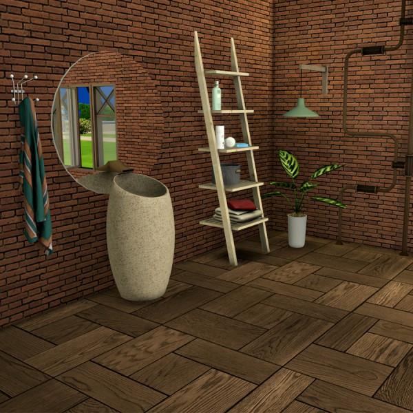 Leo 4 Sims: Modern Marble Sink