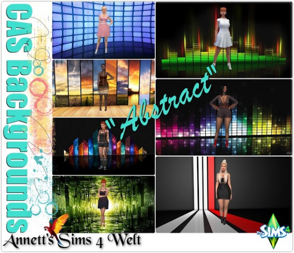 Annett`s Sims 4 Welt: CAS Backgrounds Abstract