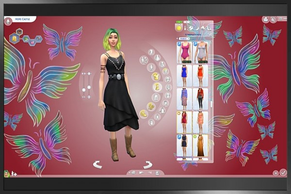 Blackys Sims 4 Zoo: Custom CAS butterflies by Cappu
