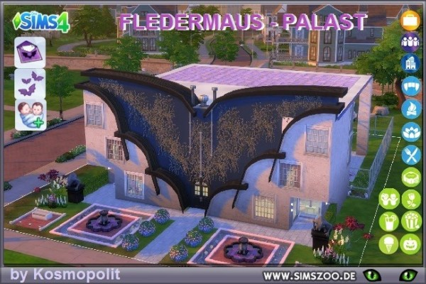 Blackys Sims 4 Zoo: Bat palace by Kosmopolit