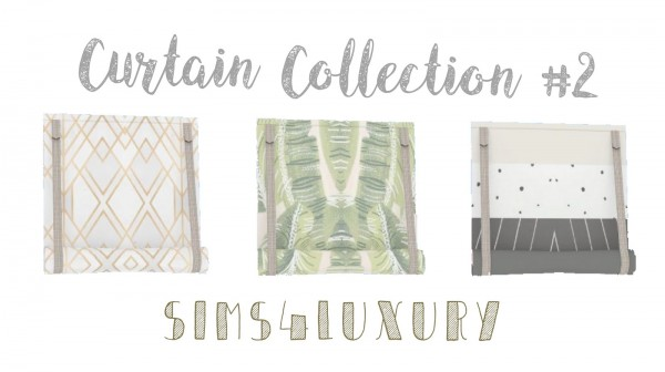 Sims4Luxury: Curtain Collection 2