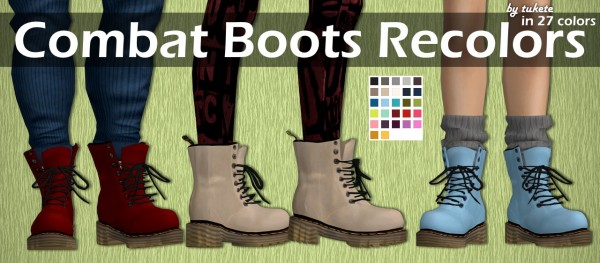 Tukete: Combat Boots Recolors