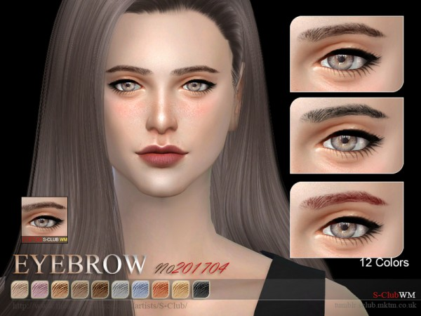 The Sims Resource: Eyebrows F 201706 by S Club