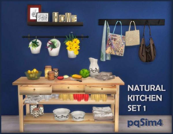 Pqsims4 natural kitchen set 1 sims 4 downloads for Kitchen set natural