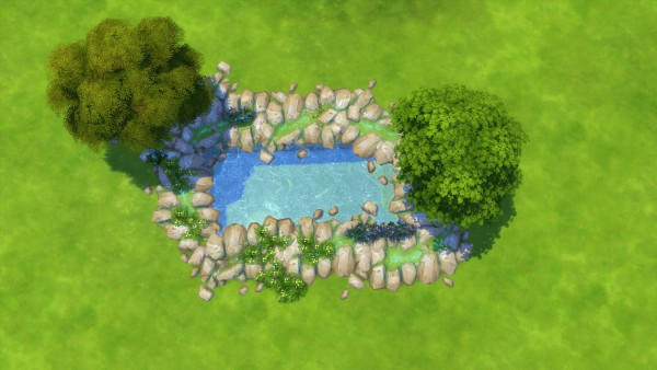 Mod The Sims: Natural Edging: Rock Crack River by Snowhaze