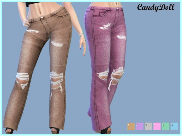 The Sims Resource: CandyDoll Candy Jeans