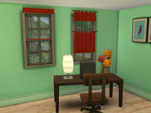 Chillis Sims: Curtain and Blind
