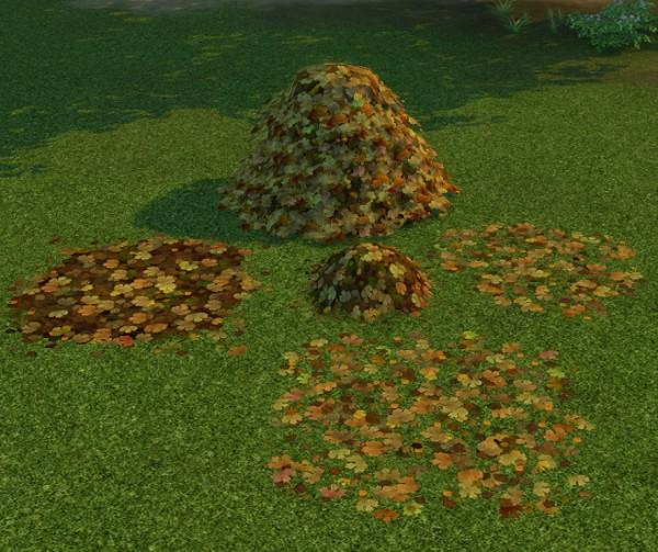 Simsworkshop: Piles Of Leaves by BigUglyHag