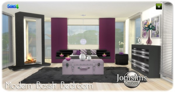 Jom Sims Creations: Modern basish bedroom