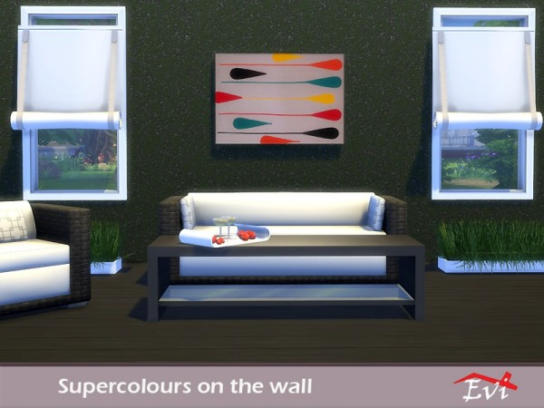 The Sims Resource: Supercolours on the wall by evi