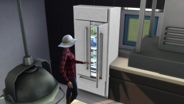 Mod The Sims: Cold Things Stainless French Door Refrigerator by ladymumm