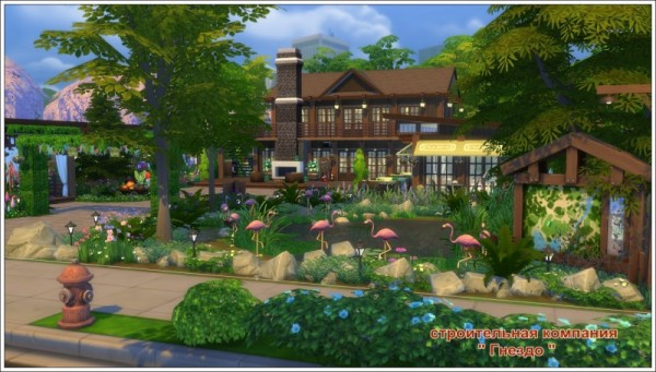 Sims 3 by Mulena: Restaurant Summer day