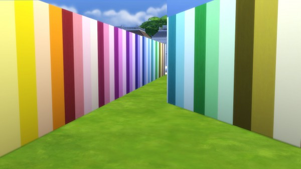 Mod The Sims: Color Me Gorgeous Painted Walls by Snowhaze