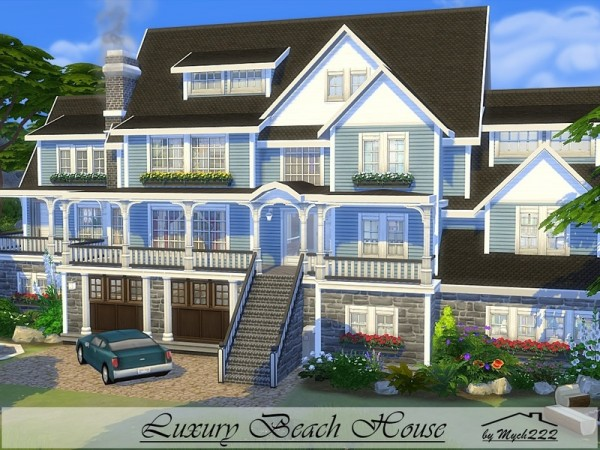 The sims resource luxury beach house by mychqqq sims 4 for Home design resources