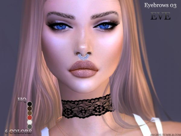 The Sims Resource: Eyebrows 03 EVE by Eyebrows03 EVE