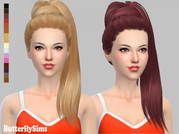 name of haircuts for hair butterflysims b flysims 132 free hairstyle no hat 3184