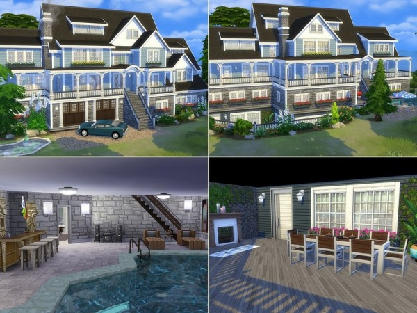The Sims Resource Luxury Beach House By Mychqqq Sims 4