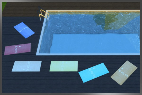 Blackys Sims 4 Zoo: Beach towels by weckermaus