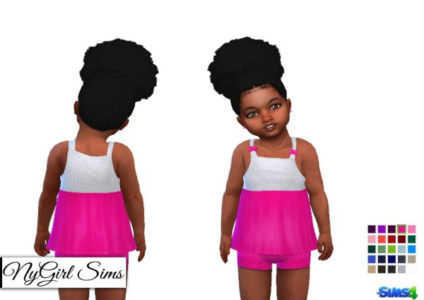 NY Girl Sims: Tank and Shorts Two Piece