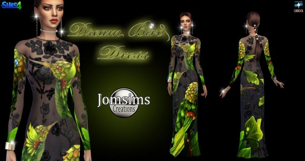 Jom Sims Creations: Dream Bird dress