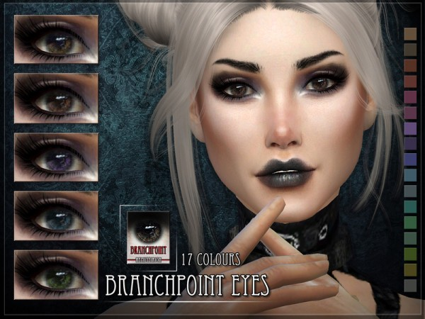 The Sims Resource: Branchpoint Eyes by Pralinesims