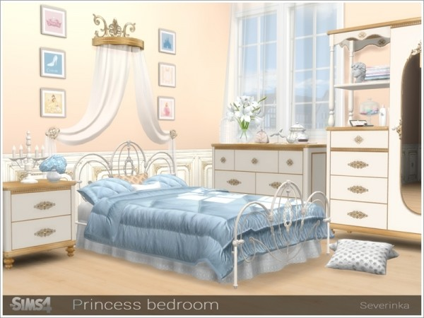The Sims Resource Princess Bedroom By Severinka Sims 4